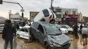 Heftige Überschwemmungen in Iran