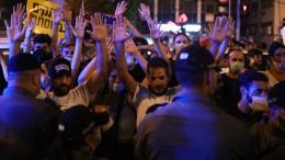 Proteste gegen Corona-Krisenmanagement in Israel