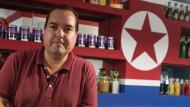 Ein Café in Spanien wirbt für Nordkorea