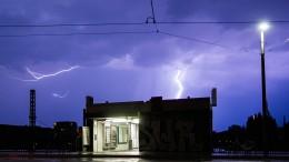 Unwetter mit Starkregen in Sicht