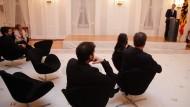 Gähnende Leere: Es wirkte gespenstisch, als Christian Wulff zum Berlinale-Empfang in Bellevue sprach