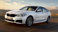 Der BMW 6er Gran Turismo mit M Sportpaket und in mineralweißer Farbe.