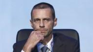 Nicht zum Spaßen da: Der neue Uefa-Präsident Ceferin
