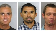 In flagrante delicto: der Bürgermeister von Fairfax (links) und seine beiden Drogenlieferanten auf einem Polizeifoto.