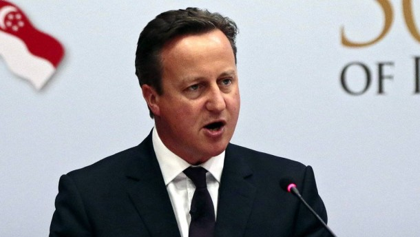 British PM Cameron visits Singapore