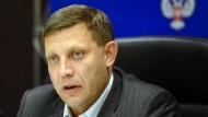 """Alexander Sachartschenko ist das selbsternannte """"Oberhaupt"""" der """"Donezker Volksrepublik""""."""