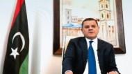 Ausschnitt aus einer Video-Ansprache des neuen libyschen Übergansministerpräsidenten Abdul Hamid Dbaiba vor dem libyschen Dialogforum am 3. Februar