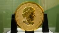 """Die Goldmünze """"Big Maple Leaf"""" wurde im März aus dem Bode-Museum gestohlen."""