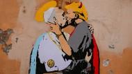 Zungenkuss zwischen Papst Franziskus und Donald Trump