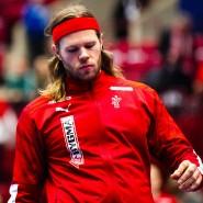 Der Däne Mikkel Hansen vor dem Spiel seiner Mannschaft gegen Russland