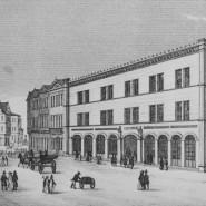Geldhaus: Die Alte Börse von der Neuen Kräme aus.