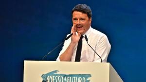 Renzi: Ich klebe nicht an meinem Sessel