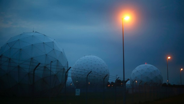 A general view  of the large former monitoring base of the U.S. intelligence organization National Security Agency (NSA) during break of dawn in Bad Aibling