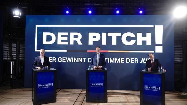 Erste Debatte der drei CDU-Vorsitzbewerber