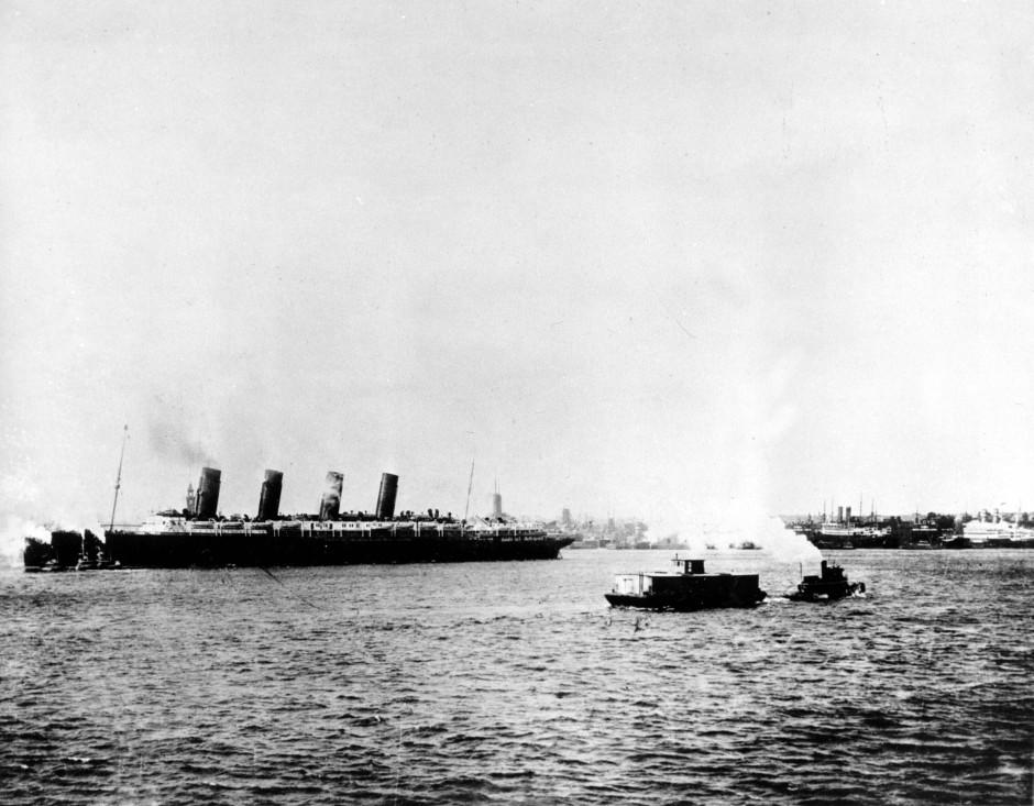 "Die ""Lusitania"" verlässt am 1. Mai 1915 New York"
