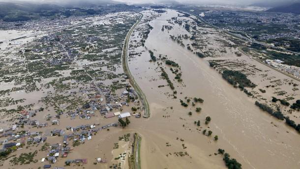 Viele Tote bei Taifun in Japan