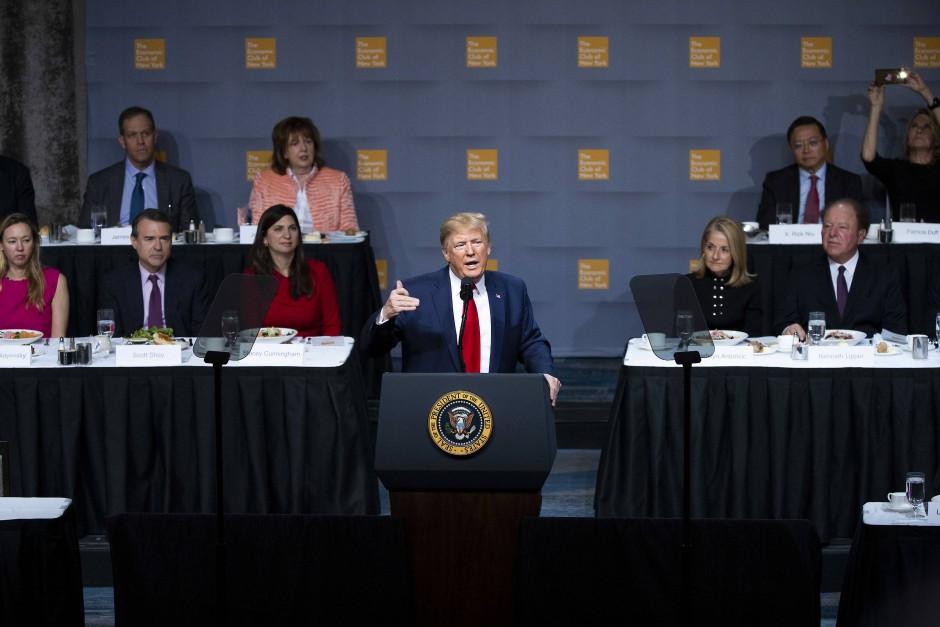 Trump während seiner Rede vor dem Economic Club of New York