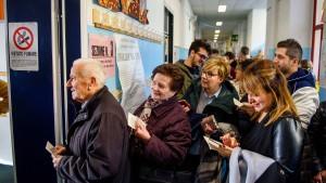 Hohe Beteiligung am Referendum in Italien