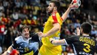 Europameister Spanien setzte sich am Mittwochabend in München mit 32:21 (13:12) gegen Mazedonien durch