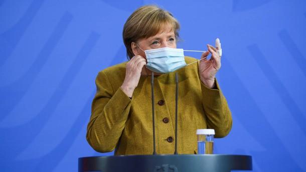 """Merkel: Bundeseinheitliche Notbremse ist """"überfällig"""""""
