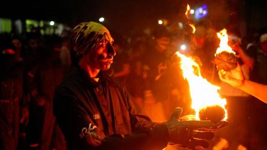 Feuerball-Schlacht in El Salvador
