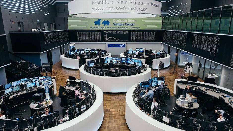 Der Handelssaal der Frankfurter Börse.