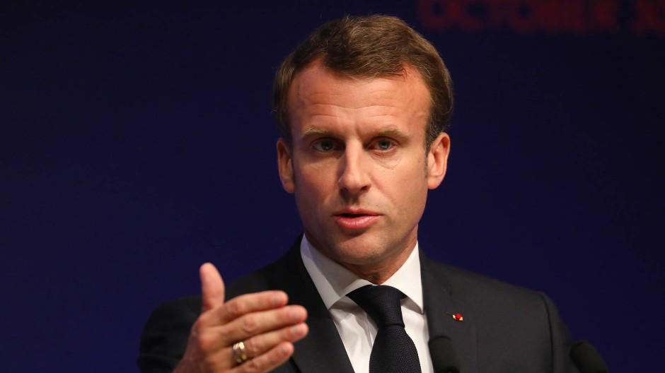 Steht in der Kritik: Frankreichs Präsident Emmanuel Macron