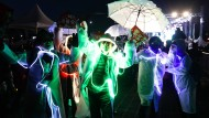 In Feierlaune: Gegner der abgesetzten Präsidentin Park bejubeln deren Fall.
