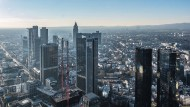 Bankenplatz Frankfurt. Die Negativzinsen breiten sich immer weiter aus.