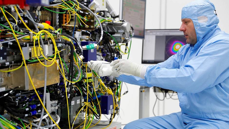 Arbeit mit den Technologien von ASML