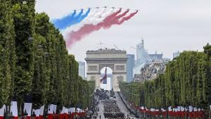 Frankreich feiert mit Europa