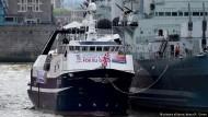 Cornwalls Fischer sehen Land