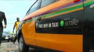 Mit W-Lan im Taxi surfen