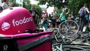 Juni 2017: Fahrradkuriere streiken