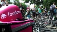 Fahrradkuriere streiken