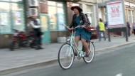 Mit dem Fahrrad durch Moskau