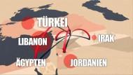 Bürgerkrieg und IS-Gräuel: Syrer auf der Flucht