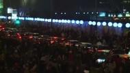 Berliner Ballon-Mauer löst sich in Luft auf