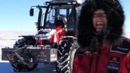 Niederländerin hat durchgezogen: Per Traktor zum Südpol
