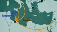 Diese Routen nutzen die Flüchtlinge
