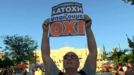 """Griechen sagen Nein"""" zur Sparpolitik"""
