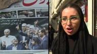 Bewohner von Teheran reagieren auf das Wahlergebnis
