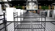 Kaum Flüchtlinge - leere Sporthallen in Oberbayern