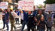 Anti-Assad-Proteste nach Kämpfen in Aleppo
