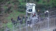 Immer wieder versuchen Flüchtlinge über den Grenzzaun von Ceuta zu klettern, um in die EU zu gelangen – wie hier Ende vergangenen Jahres 400 Nordafrikaner.