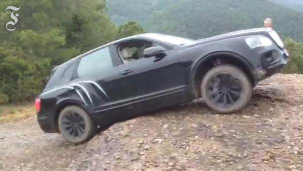 Da muss der Bentley Bentayga hoch