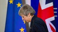 Theresa May im März in Brüssel