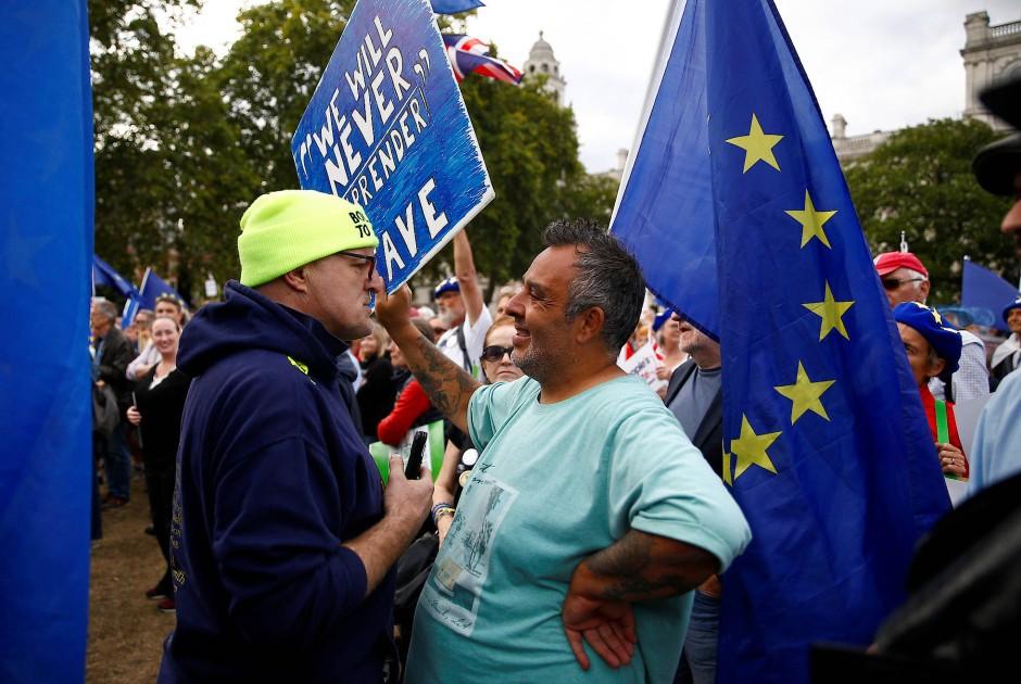 EU-Freunde und -Skeptiker stehen sich in Großbritannien fast unversöhnlich gegenüber.