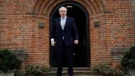 Boris Johnson am Dienstag in Surrey