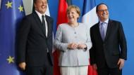 Warum sich Merkel, Renzi und Hollande heute treffen
